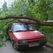 В Уфе сильный ветер повалил деревья