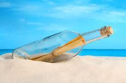 В море найдена бутылка с посланием 1914 года