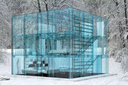 В Италии создан стеклянный дом