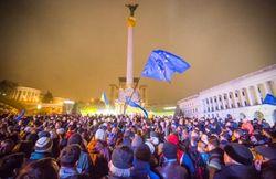 В Украине состоялся митинг против решения правительства о ЕС