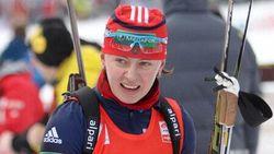 Биатлон.Женская сборная России выиграла эстафету в Рупольдинге