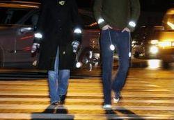 Пешеходов могут обязать носить светоотражающие элементы в темное время суток