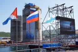 """В Охотском море в эксплуатацию запущена нефтегазодобывающая платформа """"Беркут"""""""