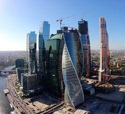 В деловом центре Москва-Сити высота зданий будет достигать 100 метров