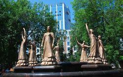 """В Уфе наградили автора фонтана """"Семь девушек"""""""