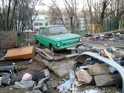 В Уфе приступили к сносу гаражей в Калининском районе города