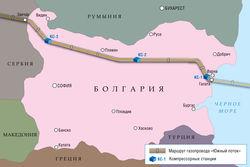 Болгария Россия газопровод